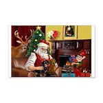Santa/Two Dachshunds (BB) 22x14 Wall Peel