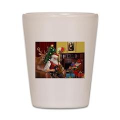 Santa/Two Dachshunds (BB) Shot Glass