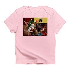 Santa/Two Dachshunds (BB) Infant T-Shirt