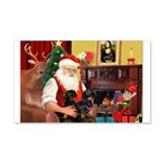 Santa's 2 Doxies (blk) 22x14 Wall Peel