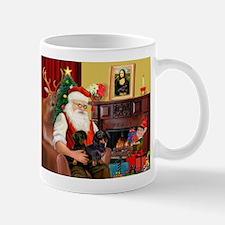 Santa's 2 Doxies (blk) Mug