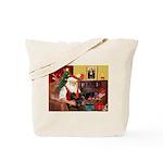Santa's 2 Doxies (blk) Tote Bag
