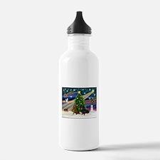 XmasMagic/2 Dachshund (BB) Water Bottle