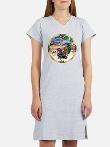 XmasMagic/2 Dachshunds Women's Nightshirt