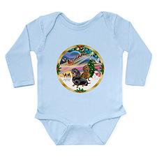 XmasMagic/2 Dachshunds Long Sleeve Infant Bodysuit