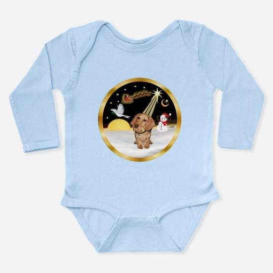Night Flight/Dachshund #11 Long Sleeve Infant Body