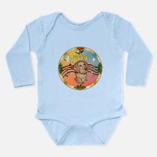 XmasMusic2/Dachshund (WH)#11 Long Sleeve Infant Bo
