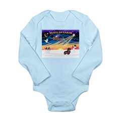 XmasSunrise/Dachshund (WH) Long Sleeve Infant Body