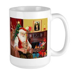 Santa's Dachshund (wire) Mug