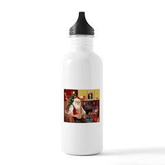 Santa's Dachshund (wire) Water Bottle