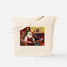 Santa's Dachshund (LH-B) Tote Bag