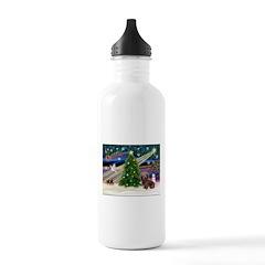 XmasMagic/Dachshund (Wire) Water Bottle