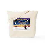 XmasSunrise/Dobbie #2 Tote Bag