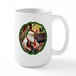 Santa's Doberman Pinscher Large Mug
