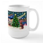 Xmas Magic/Red Dobie Large Mug