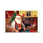 Santa's 2 Dobermans 22x14 Wall Peel