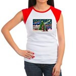 XmasMagic/2 Dobies (P3) Women's Cap Sleeve T-Shirt