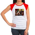 Santa's Dobie (Bz) Women's Cap Sleeve T-Shirt