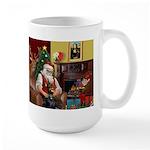 Santa's Dobie (Bz) Large Mug