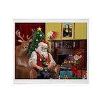 Santa's Dobie (Bz) Throw Blanket