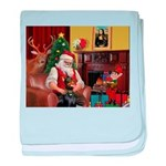 Santa's Dobie (Bz) baby blanket