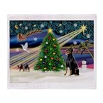 XmasMagic/Dobie (1) Throw Blanket