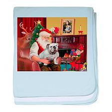 Santa's white EBD baby blanket