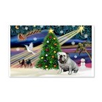 Xmas Magic & Bulldog 22x14 Wall Peel