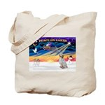 XmasSunrise/Eng Setter Tote Bag