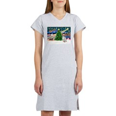 XmasMagic/English Setter Women's Nightshirt