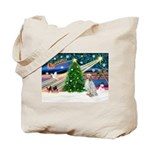 XmasMagic/English Setter Tote Bag