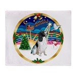 XmasMusic 3/Eng Springer #8 Throw Blanket