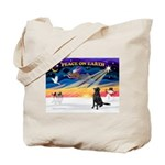 XmasSunrise/Fl Coat Retriev Tote Bag