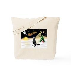 Night Flight/Fl Coat Retrieve Tote Bag
