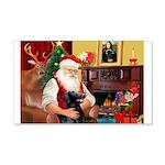 Santa's Flat Coat R 22x14 Wall Peel