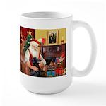 Santa's Flat Coat R Large Mug