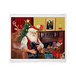 Santa's Flat Coat R Throw Blanket