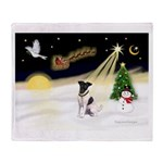 Night Flight/Fox Terrier Throw Blanket