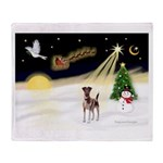 Night Flight/Fox Terrier 5 Throw Blanket