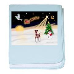 Night Flight/Fox Terrier 5 baby blanket
