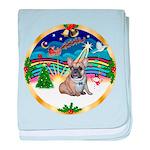 XmasMusic 3/Fr Bulldog #16 baby blanket