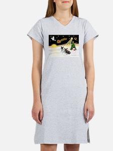 Night Flight/2 Fr Bulldogs Women's Nightshirt
