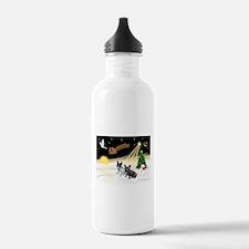 Night Flight/2 Fr Bulldogs Water Bottle