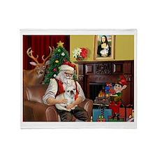 Santa's French BD (1) Throw Blanket