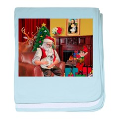 Santa's French BD (1) baby blanket