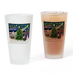 XmasMagic/French BD (br) Drinking Glass