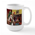 Santa's G-Shepherd (#2) Large Mug