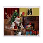 Santa's G-Shepherd (#2) Throw Blanket