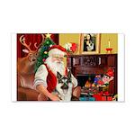 Santa's G-Shepherd (#8) 22x14 Wall Peel
