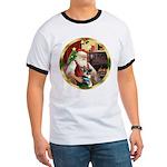 Santa's German Shepherd #15 Ringer T